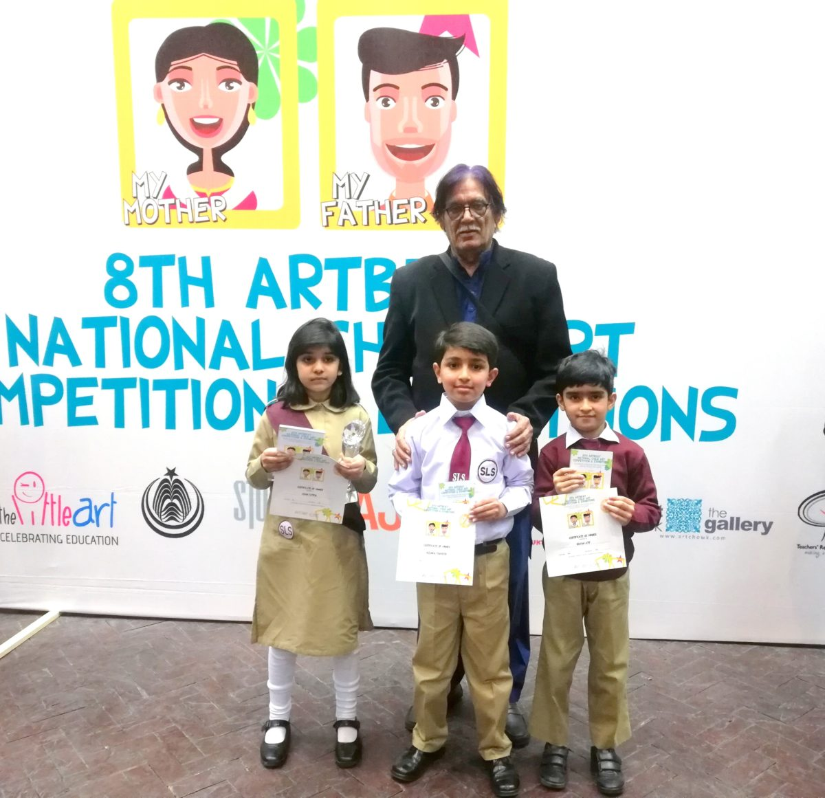 SLS students win prizes at Art Beat Competition